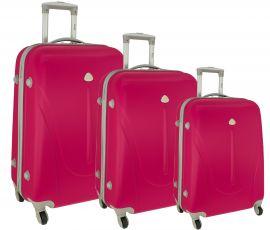 Cestovní kufry sada RGL 883 ABS PINK L,M,S
