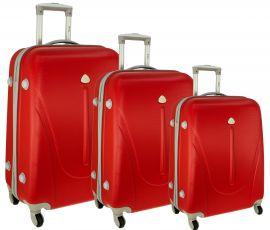 Cestovní kufry sada RGL 883 ABS RED L,M,S