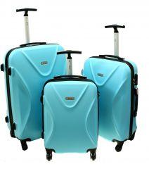 Cestovní kufry sada RGL 750 ABS+TSA LIGHT BLUE L,M,S