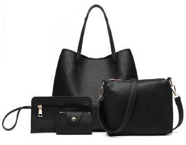 Praktický dámský kabelkový set 4v1 Miss Lulu černá