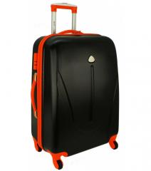 Cestovní kufr RGL 883 ABS BLACK ORANGE střední M