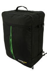 Příruční zavazadlo batoh pro WIZZAIR Priority 55x40x20 BLACK-GREEN