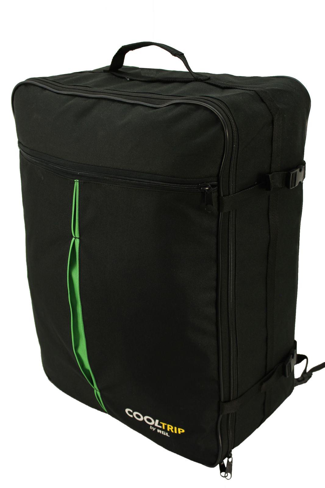 Příruční zavazadlo batoh pro WIZZAIR 55x40x20 BLACK-GREEN