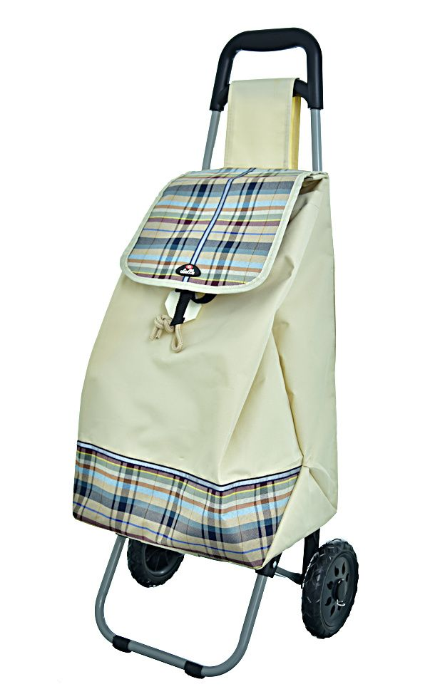 Nákupní taška na kolečkách Dielle CARR2-24 béžová