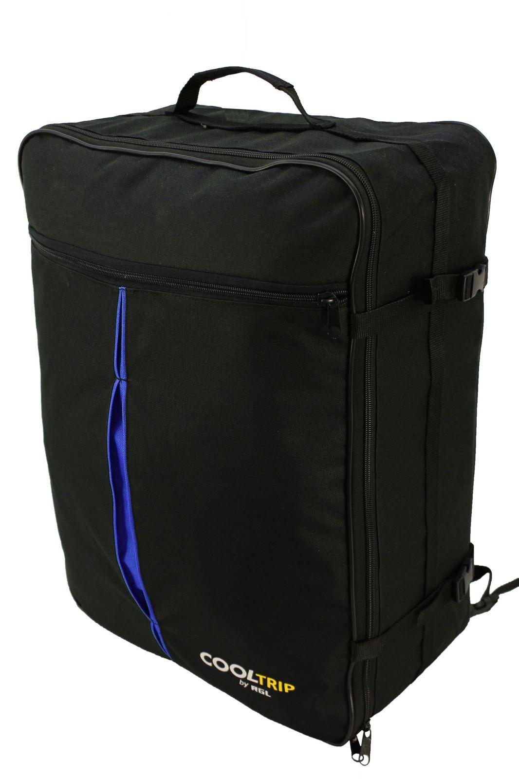 Příruční zavazadlo batoh pro WIZZAIR 55x40x20 BLACK-BLUE
