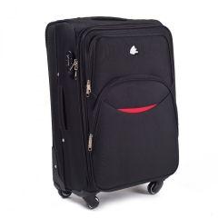Cestovní látkový kufr WINGS 1708 BLACK malý S