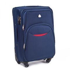 Cestovní látkový kufr WINGS 1708 BLUE velký L