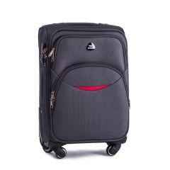Cestovní látkový kufr WINGS 1708 DARK GREY velký L