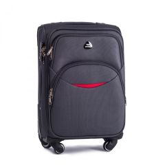 Cestovní látkový kufr WINGS 1708 DARK GREY střední M