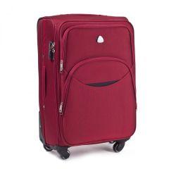 Cestovní látkový kufr WINGS 1708 RED malý S