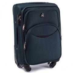 Cestovní látkový kufr WINGS 1708 DARK GREEN velký L