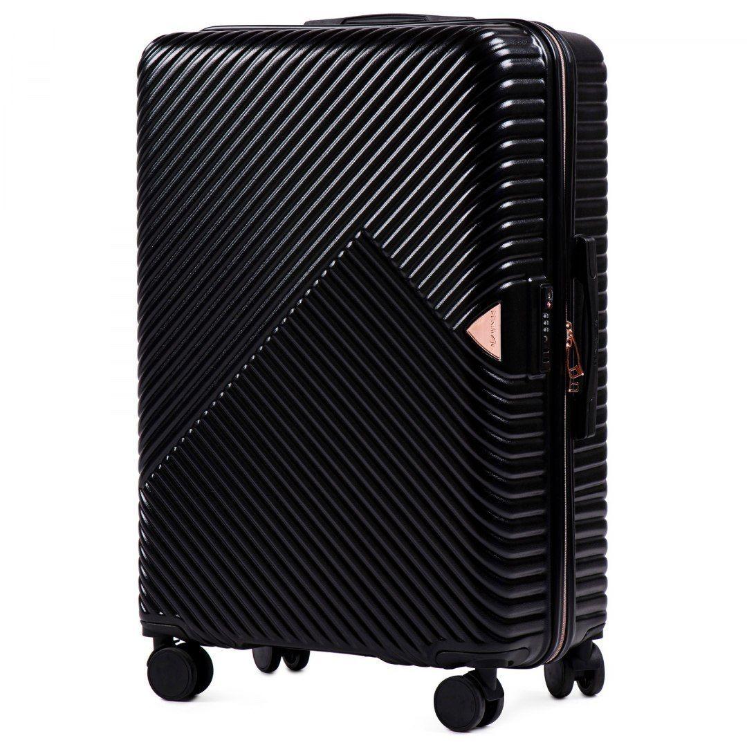 Cestovní kufr WINGS DOVE ABS+TSA BLACK střední M