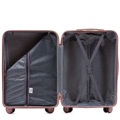 Cestovní kufr WINGS DOVE ABS+TSA BLACK střední M E-batoh