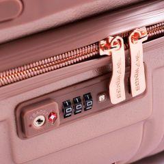 Cestovní kufr WINGS DOVE ABS+TSA DARK RED velký L E-batoh