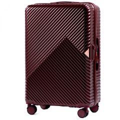 Cestovní kufr WINGS DOVE ABS+TSA DARK RED velký L