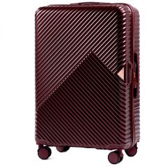 Cestovní kufr WINGS DOVE ABS+TSA DARK RED střední M