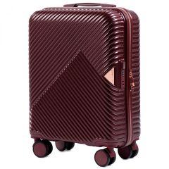Cestovní kufr WINGS DOVE ABS+TSA DARK RED malý S