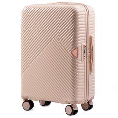 Cestovní kufr WINGS DOVE ABS+TSA DIRTY WHITE střední M