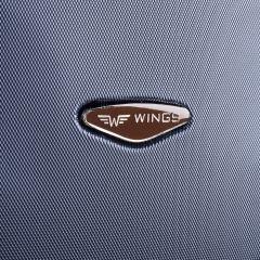 Cestovní kufr WINGS 402 ABS BLACK malý S E-batoh
