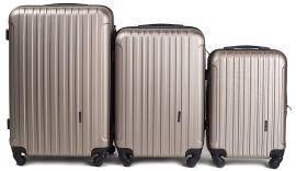 Cestovní kufry sada WINGS 2011 ABS CHAMPAGNE L,M,S