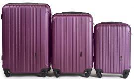 Cestovní kufry sada WINGS 2011 ABS DARK PURPLE L,M,S