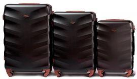 Cestovní kufry sada WINGS 402 ABS BLACK L,M,S