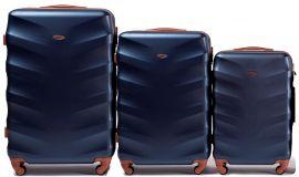 Cestovní kufry sada WINGS 402 ABS BLUE L,M,S