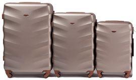 Cestovní kufry sada WINGS 402 ABS CHAMPAGNE L,M,S
