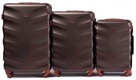 Cestovní kufry sada WINGS 402 ABS COFFEE L,M,S