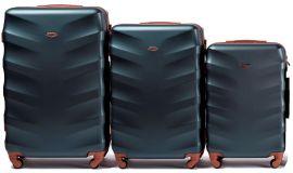 Cestovní kufry sada WINGS 402 ABS DARK GREEN L,M,S