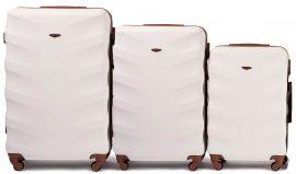 Cestovní kufry sada WINGS 402 ABS DIRTY WHITE L,M,S