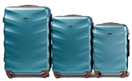 Cestovní kufry sada WINGS 402 ABS SILVER BLUE L,M,S