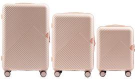 Cestovní kufry sada WINGS DOVE ABS+TSA DIRTY WHITE L,M,S