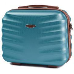Kosmetický kufřík WINGS ALBATROS ABS SILVER BLUE