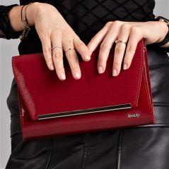 Bordové lakované luxusní dámské psaníčko W52 ROVICKY
