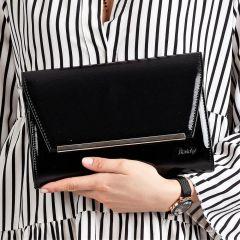 Černé lakované luxusní dámské psaníčko W52 ROVICKY