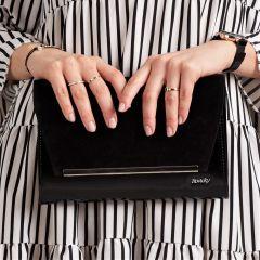 Černé luxusní dámské psaníčko W52 hladký lak ROVICKY