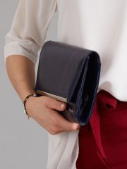 Modré lakované luxusní dámské psaníčko W52 ROVICKY E-batoh