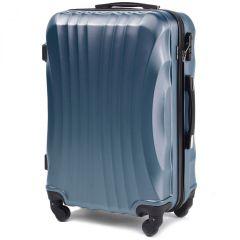 Cestovní kufr WINGS 159 ABS SILVER BLUE malý S