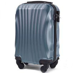 Cestovní kufr WINGS 159 ABS SILVER BLUE malý xS