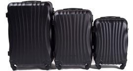 Cestovní kufry sada WINGS 159 ABS BLACK L,M,S