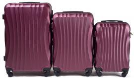 Cestovní kufry sada WINGS 159 ABS BURGUNDY L,M,S