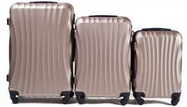 Cestovní kufry sada WINGS 159 ABS CHAMPAGNE L,M,S