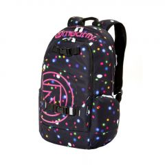 Meatfly Basejumper 4 Backpack + POUZDRO B - Lights Neon