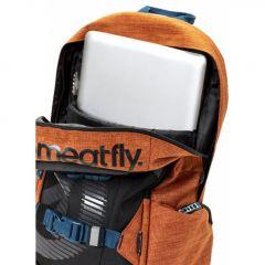 Meatfly Basejumper 4 Backpack + POUZDRO M - Ht. Brown Oak, Black E-batoh