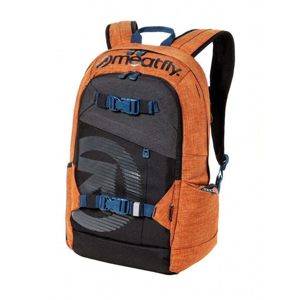 Meatfly Basejumper 4 Backpack + POUZDRO M - Ht. Brown Oak, Black