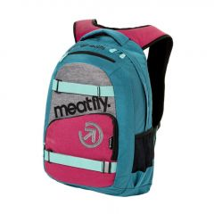 Meatfly Exile 3 Backpack + POUZDRO J - Ht. Turquoise, Ht. Rose