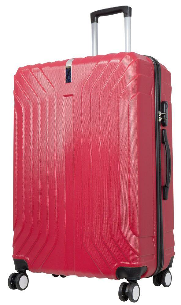Cestovní skořepinový kufr PALMA RED BRIGHT velký L