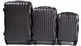 Cestovní kufry sada WINGS 159 ABS DARK GREY L,M,S