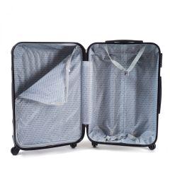 Cestovní kufr WINGS 159 ABS ROSE RED malý xS E-batoh